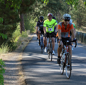Riders at Spokane Valley Cycle Celebration